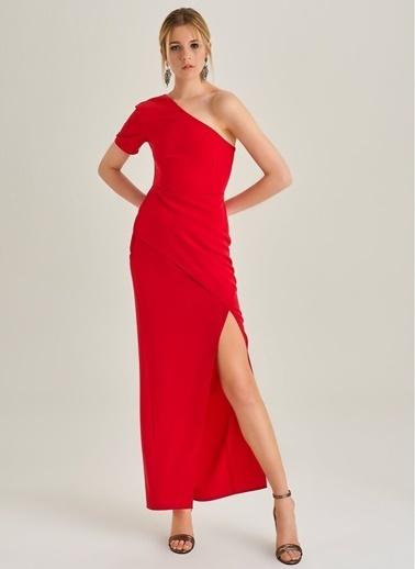 Tek Omuz Yırtmaçlı Elbise-People By Fabrika